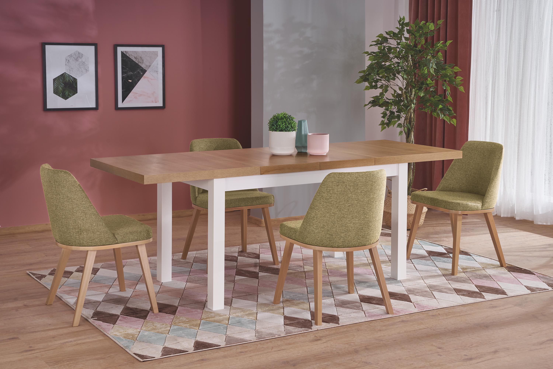 TIAGO 2 rozkladací stôl riviera dub / biela