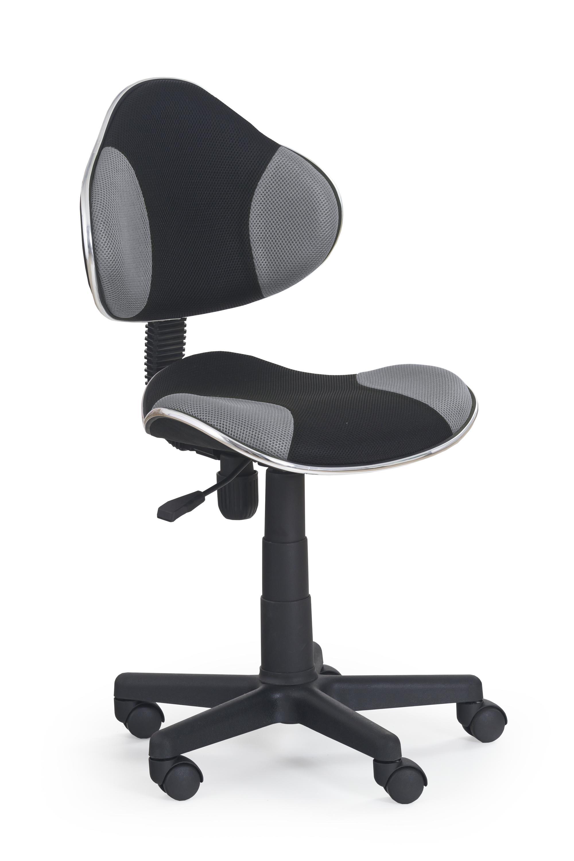 FLASH detská stolička čierna/šedá