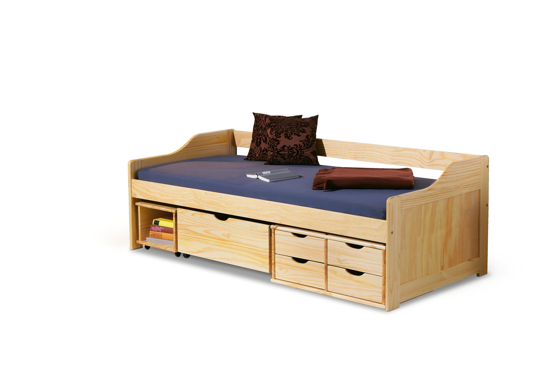 Jednolůžková postel se zásuvkami MAXIMA