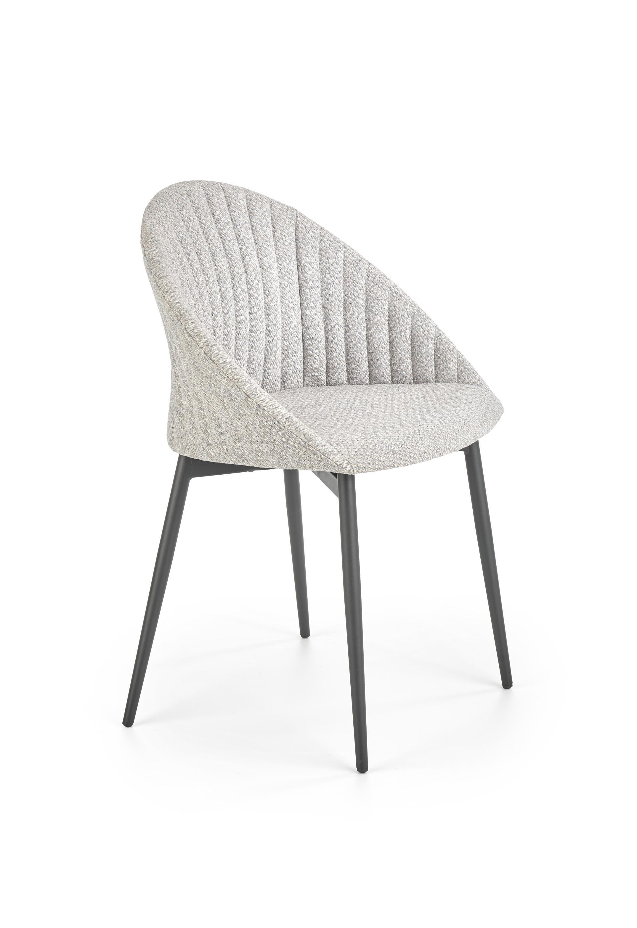 K357 jedálenská stolička svetlošedá