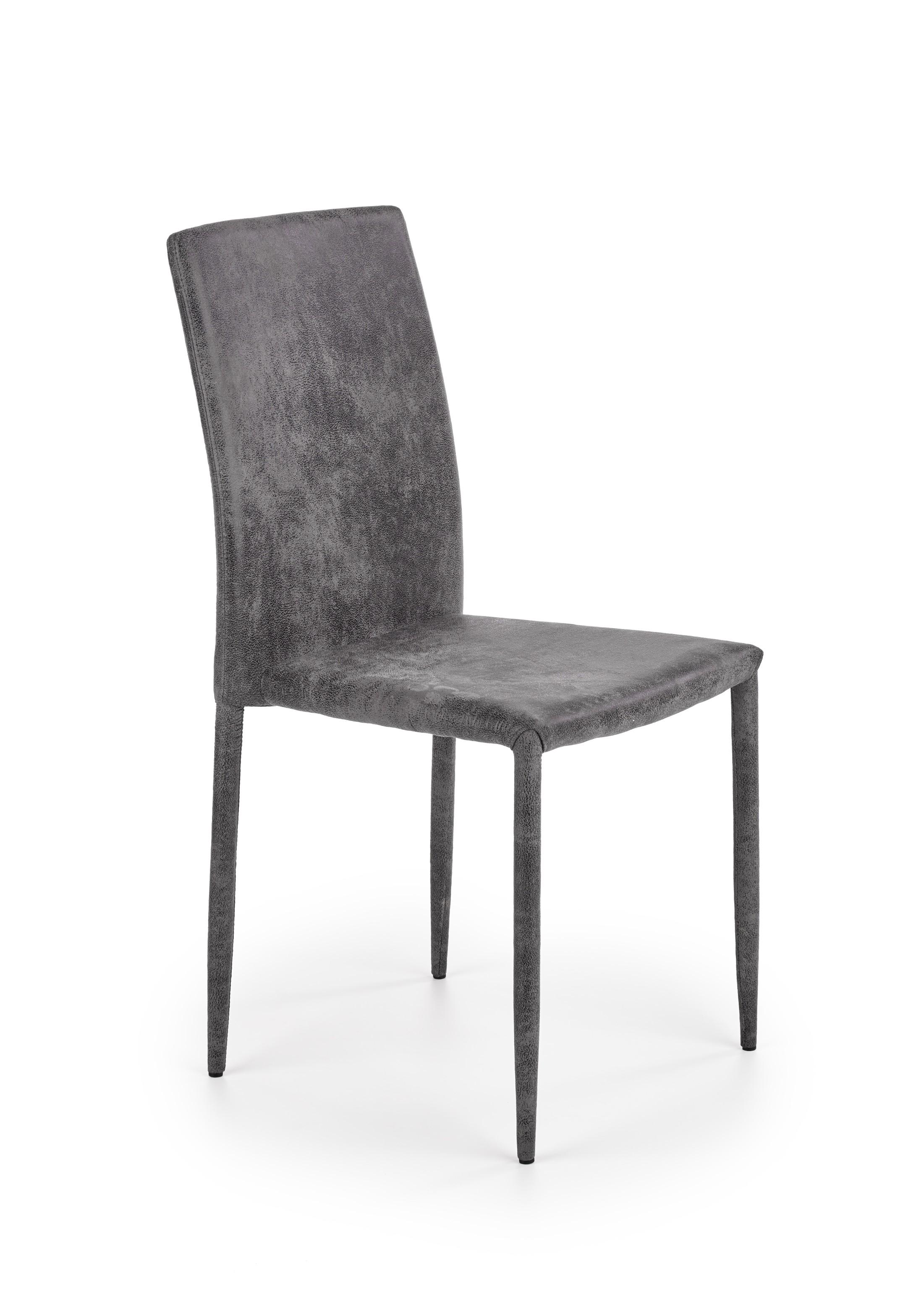 K375 jedálenská stolička tmavo šedá