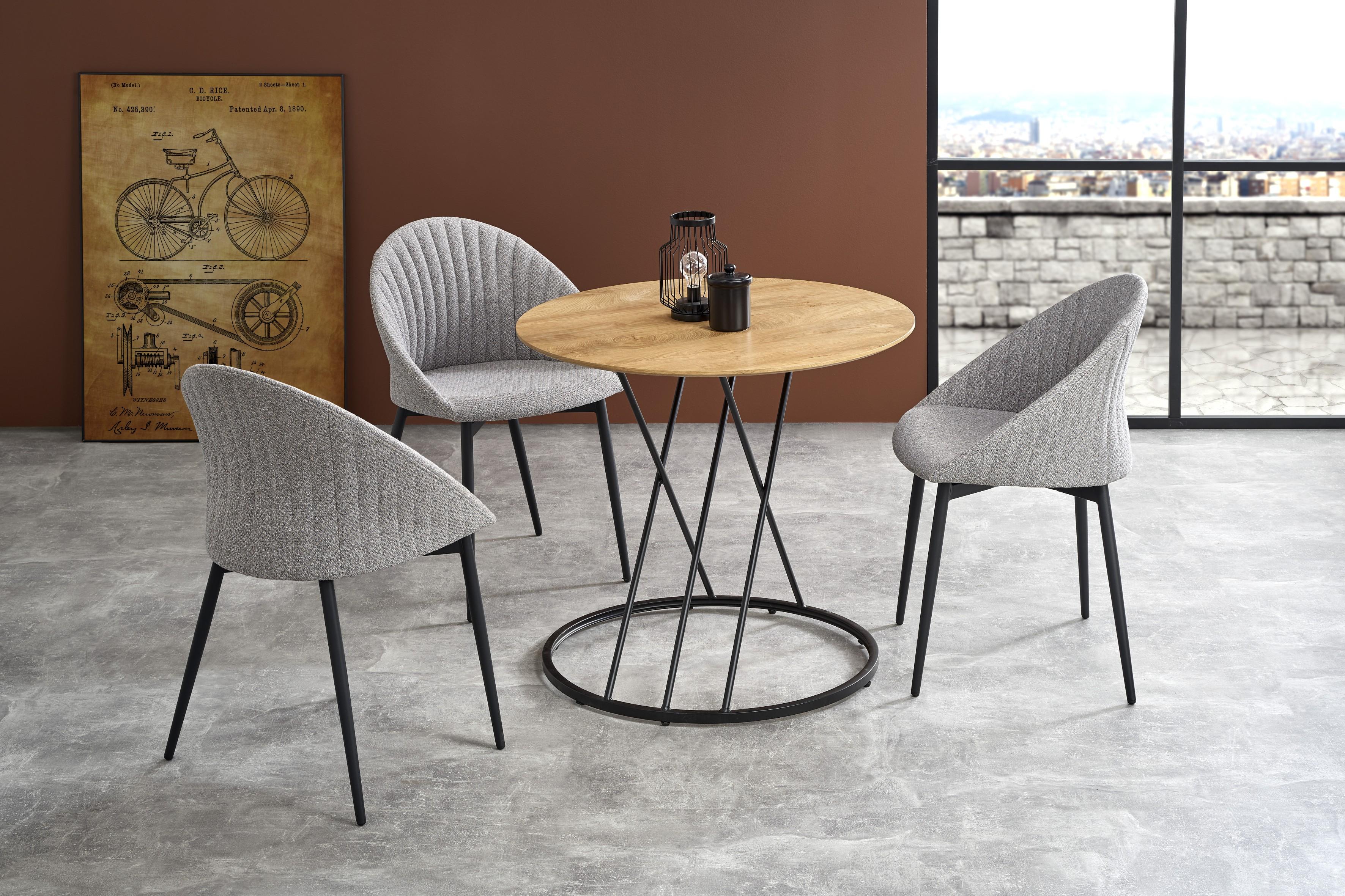 SVEN stôl, doska - prírodná, nohy - čierna