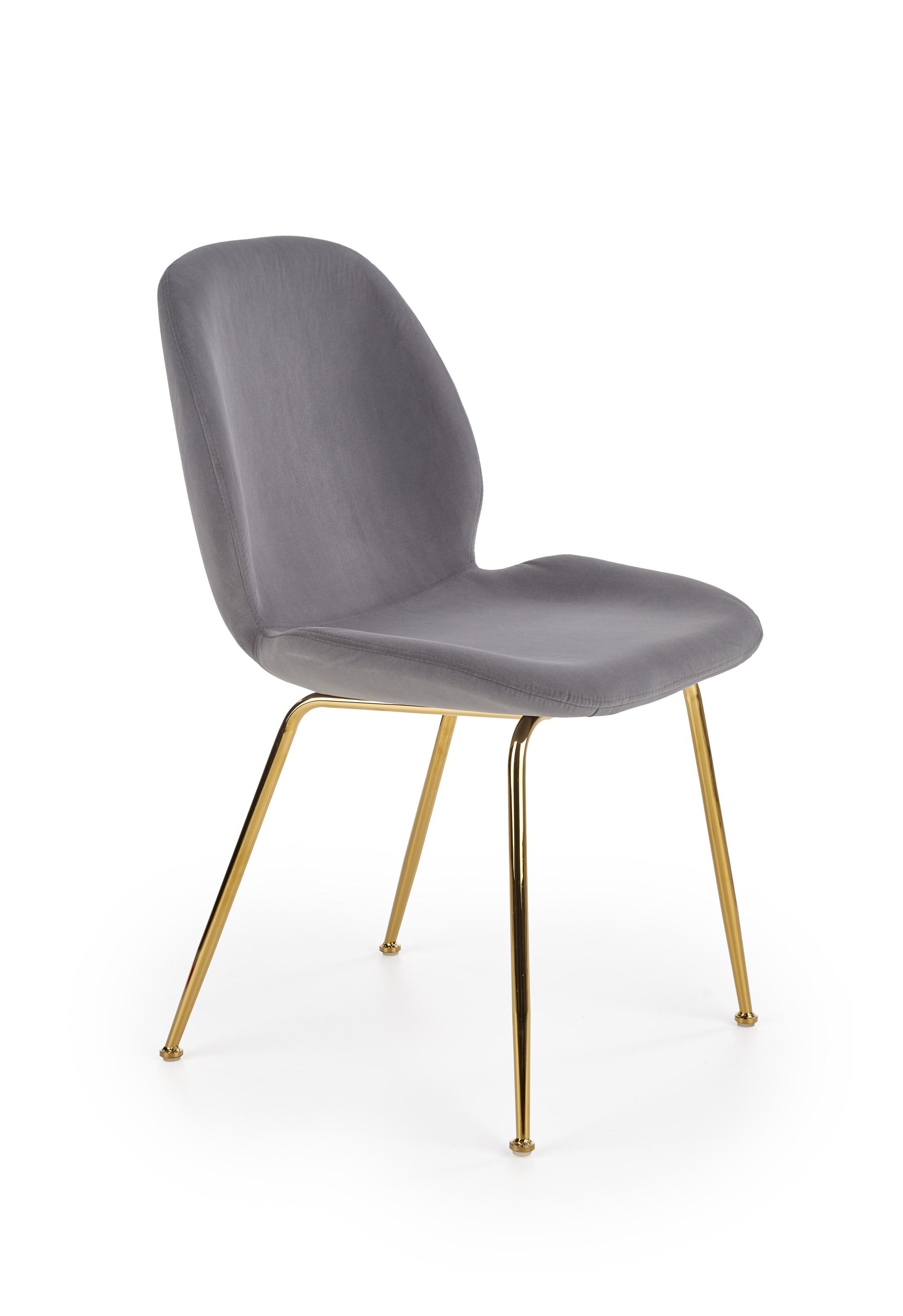 K381 jedálenská stolička šedá / zlatá