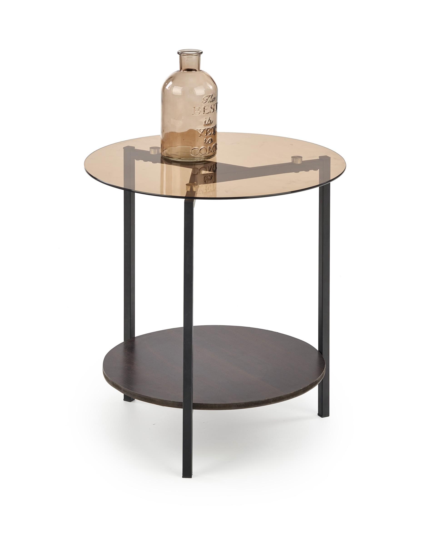 GIRONA konferenčný stôl čierna / orech / dymová