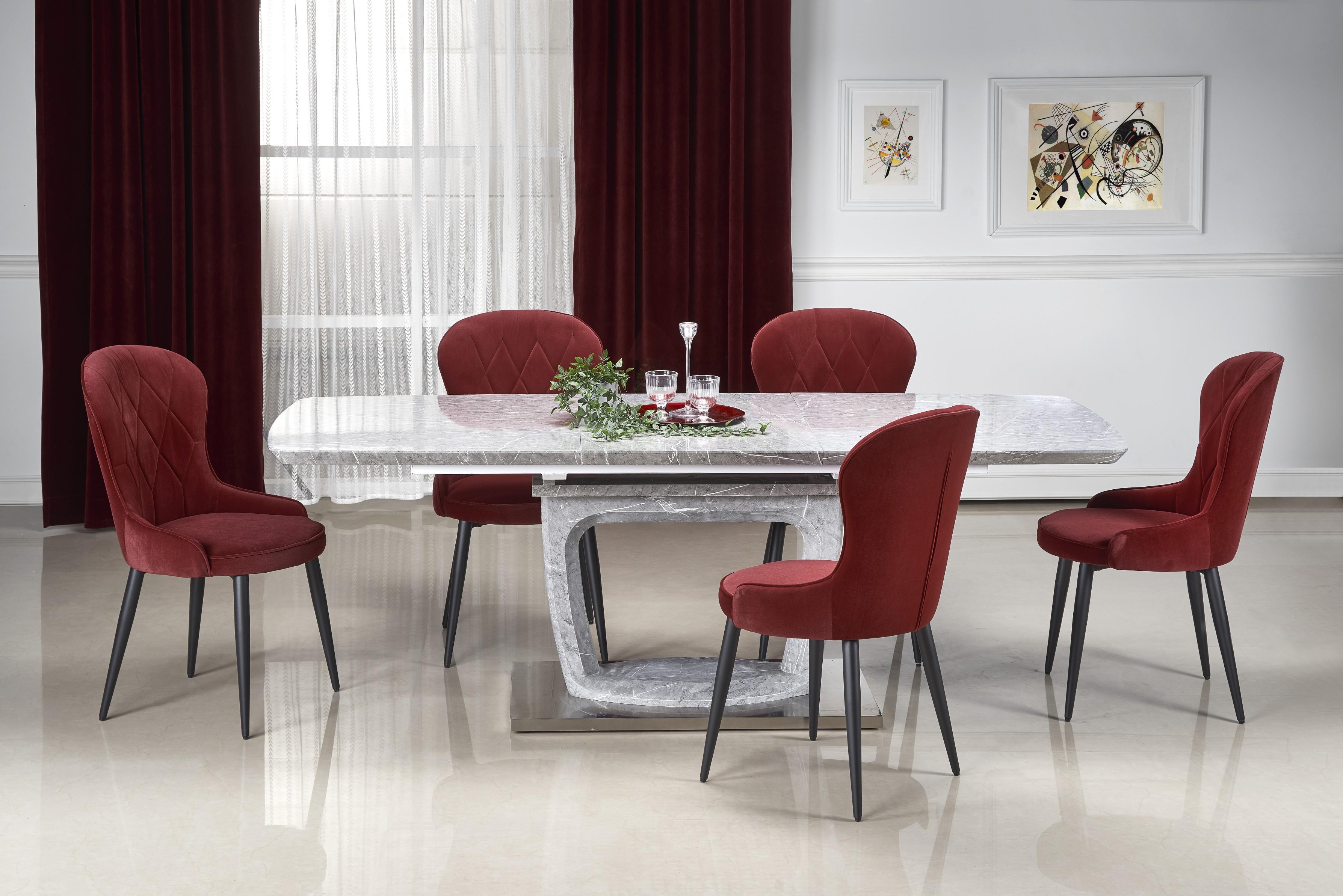 ARTEMON rozkladací stôl šedý mramor