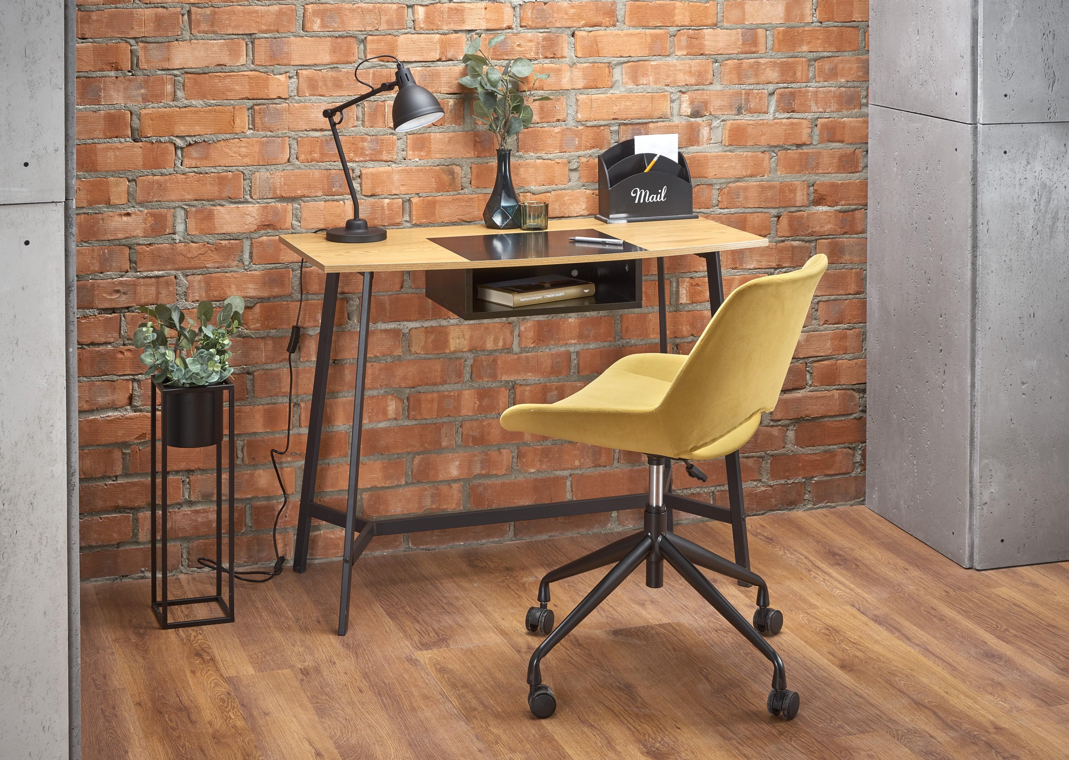 B41 PC stôl dub zlatý / čierna