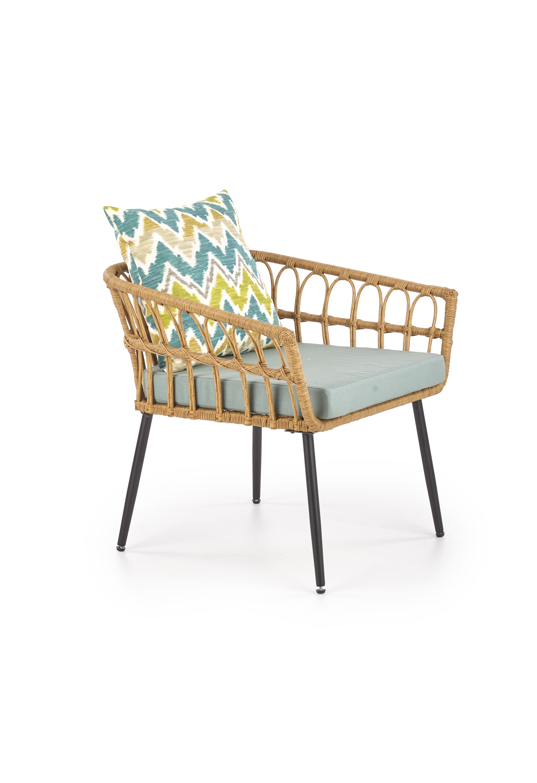GARDENA 1S záhradná stolička čierna / prírodná / šedá