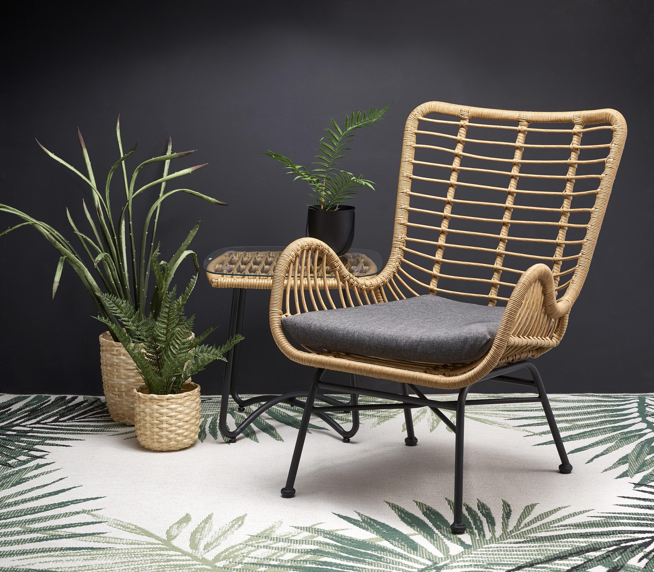 IKARO stolička čierna / prírodná / šedá