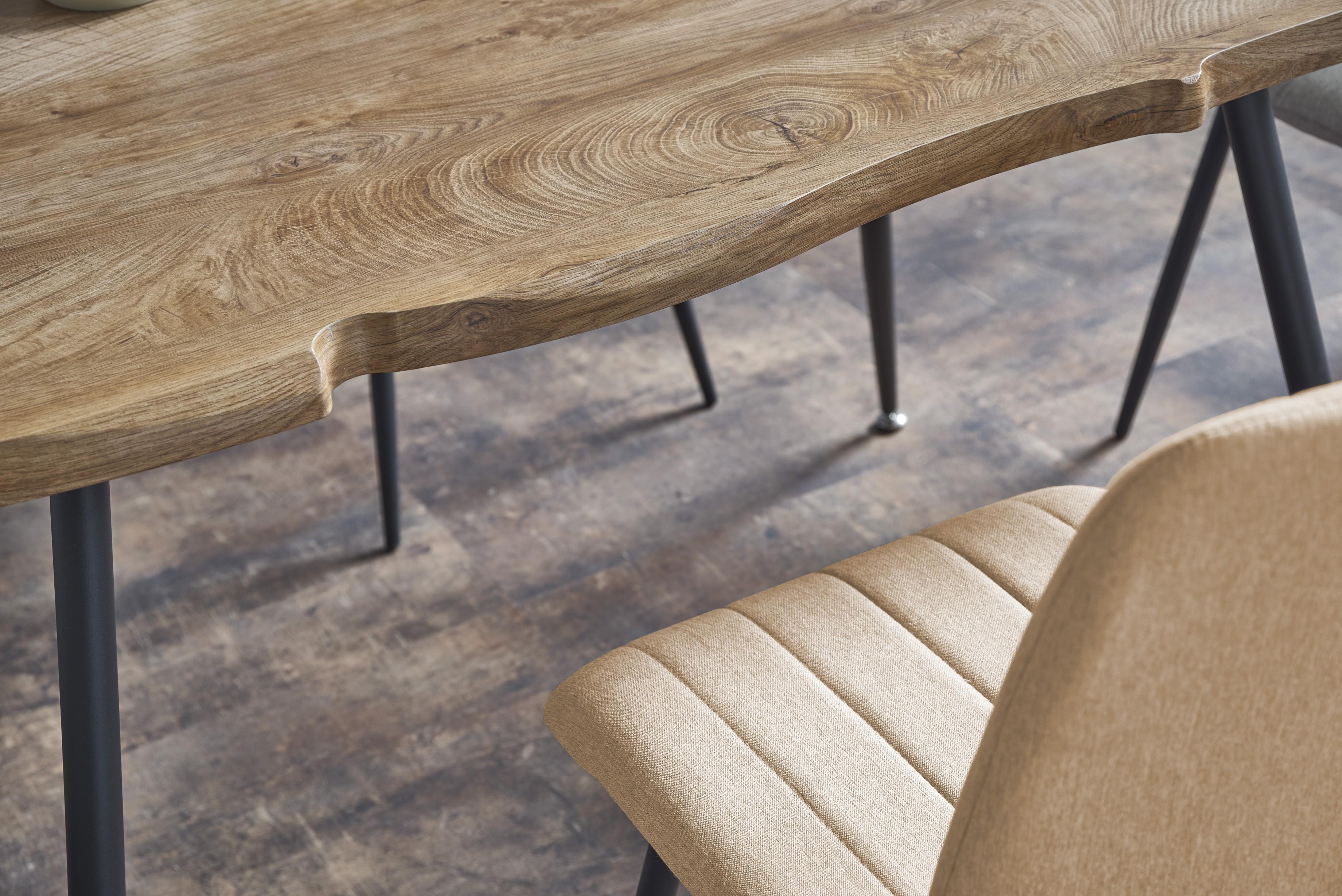 LARSON stôl, doska - prírodná, nohy - čierna