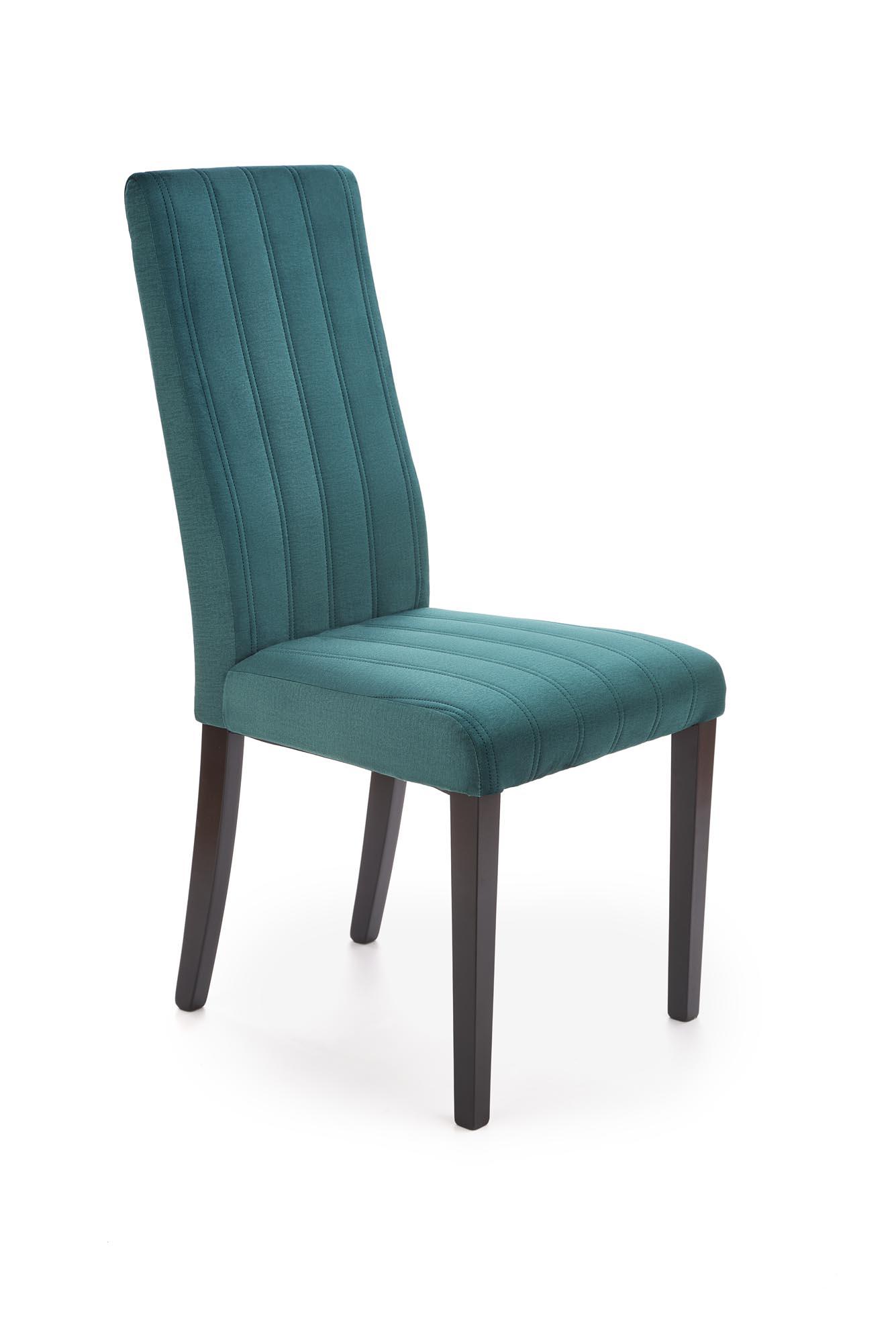 DIEGO 2 jedálenská stolička čierna / čal. zamat prešívané pásy - MONOLITH 37 (tmavo zelená)