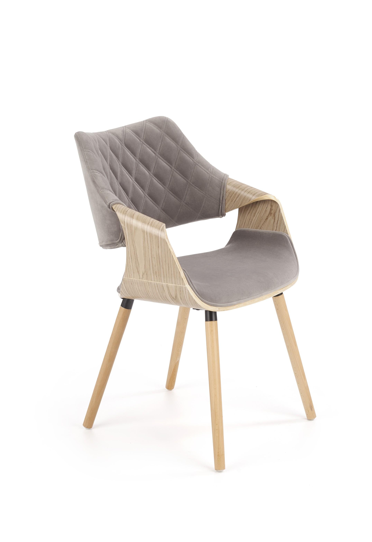 K396 stolička svetlý dub / šedá