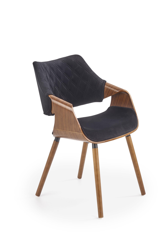K396 stolička orech / čierna