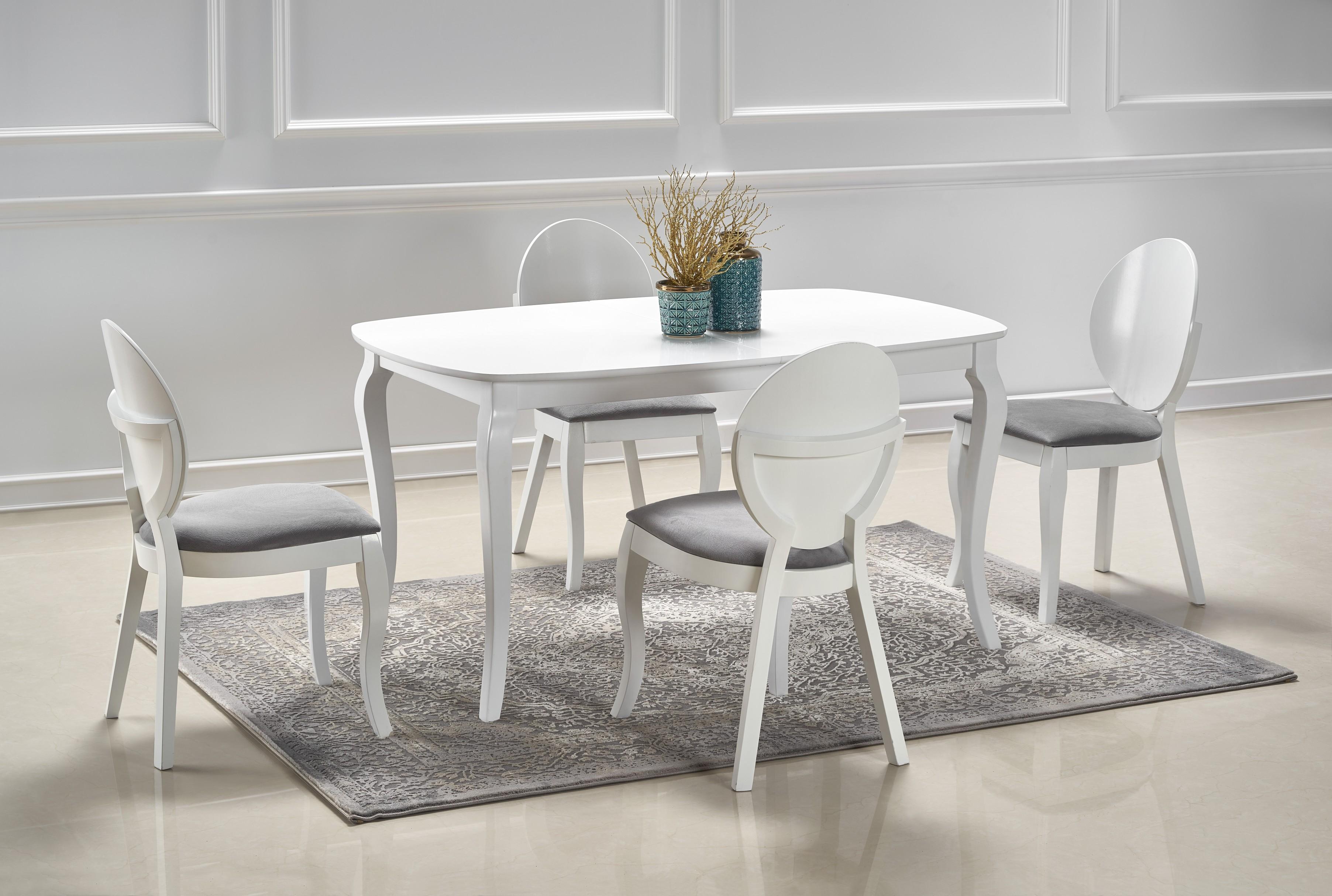 ALEXANDER rozkladací stôl biely