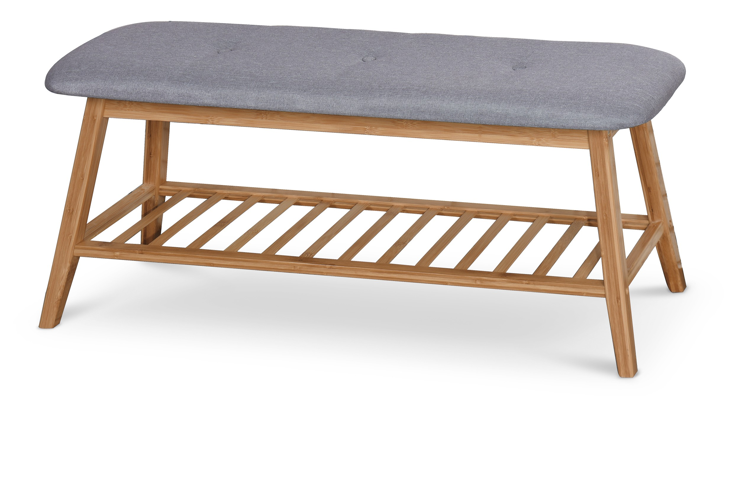 ST15 lavička / botník bambus - šedá
