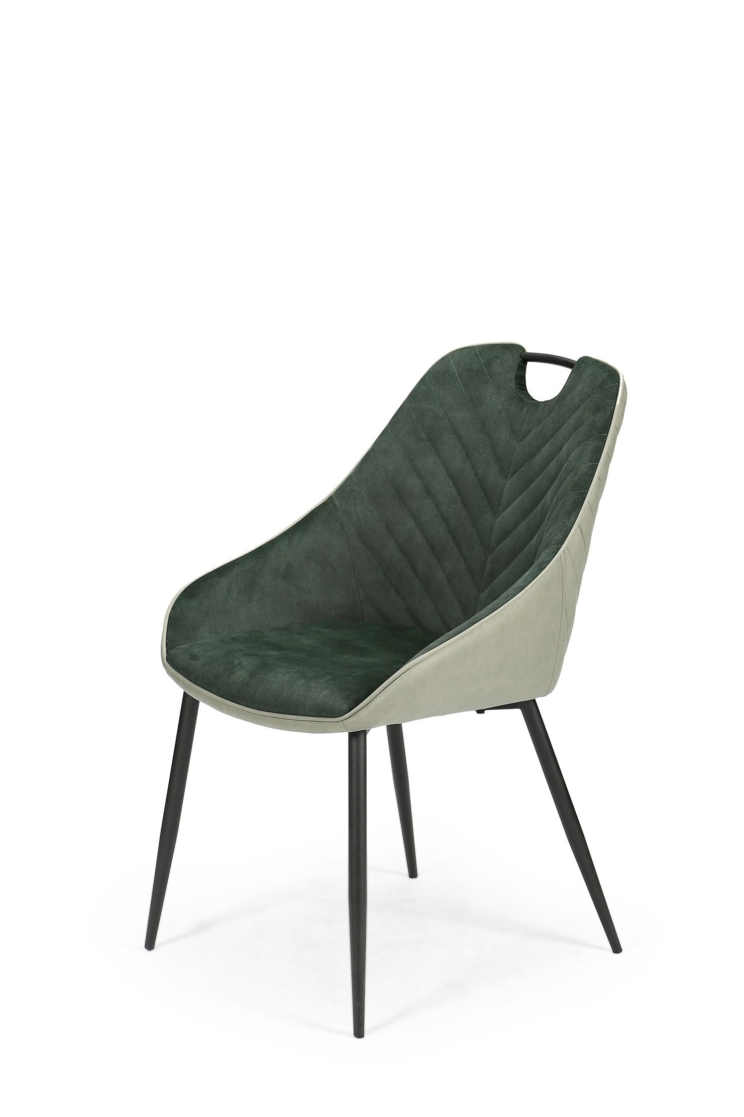 K412 stolička tmavo zelená / svetlo zelená