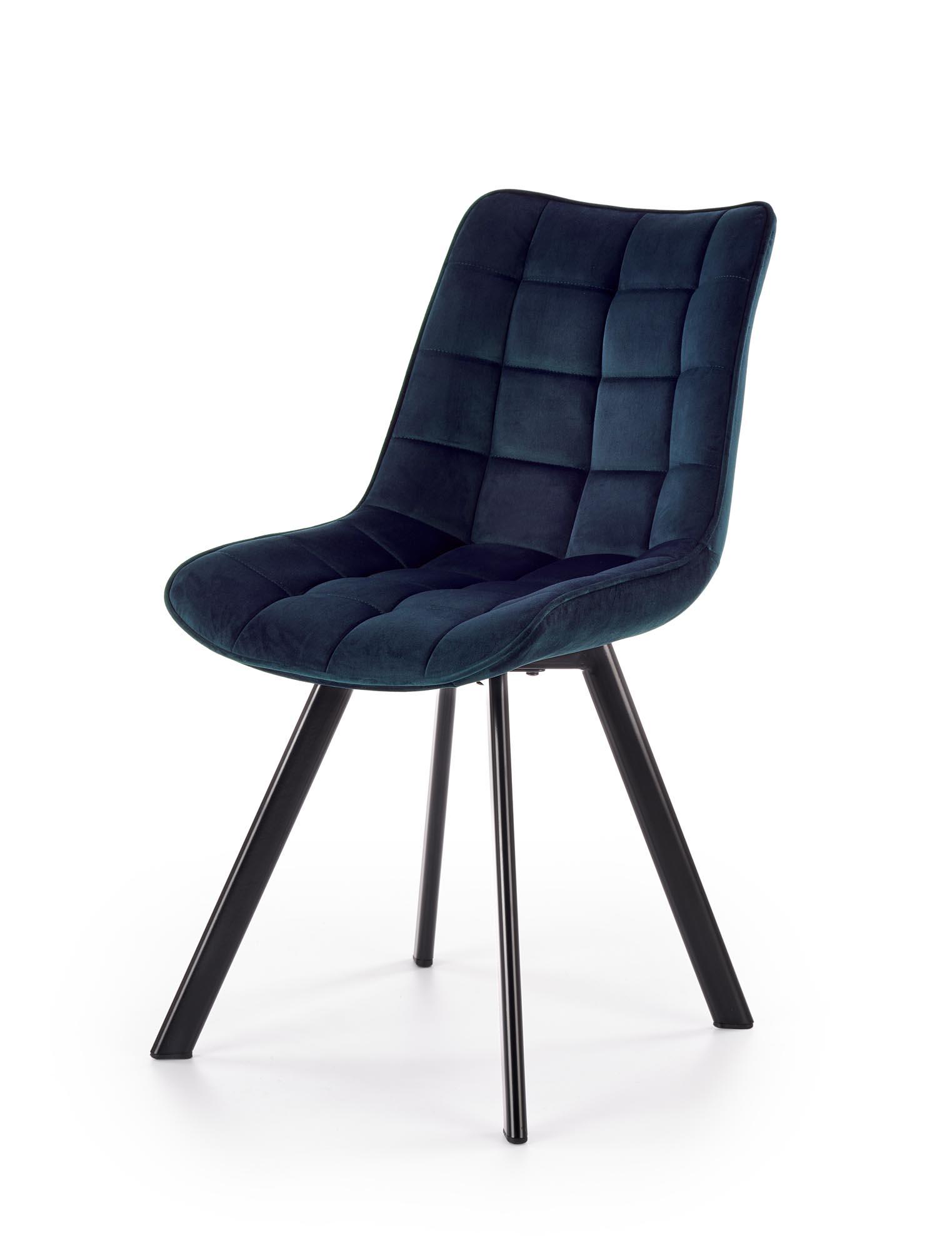 K332 stolička nohy - čierne, sedák - granátová