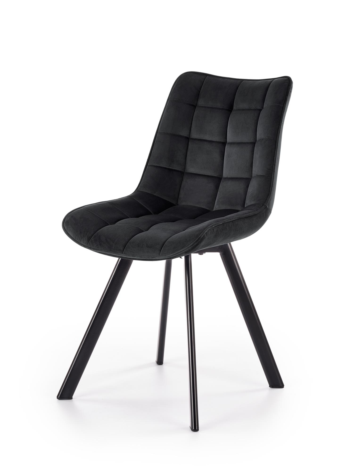 K332 stolička nohy - čierne, sedák - čierna