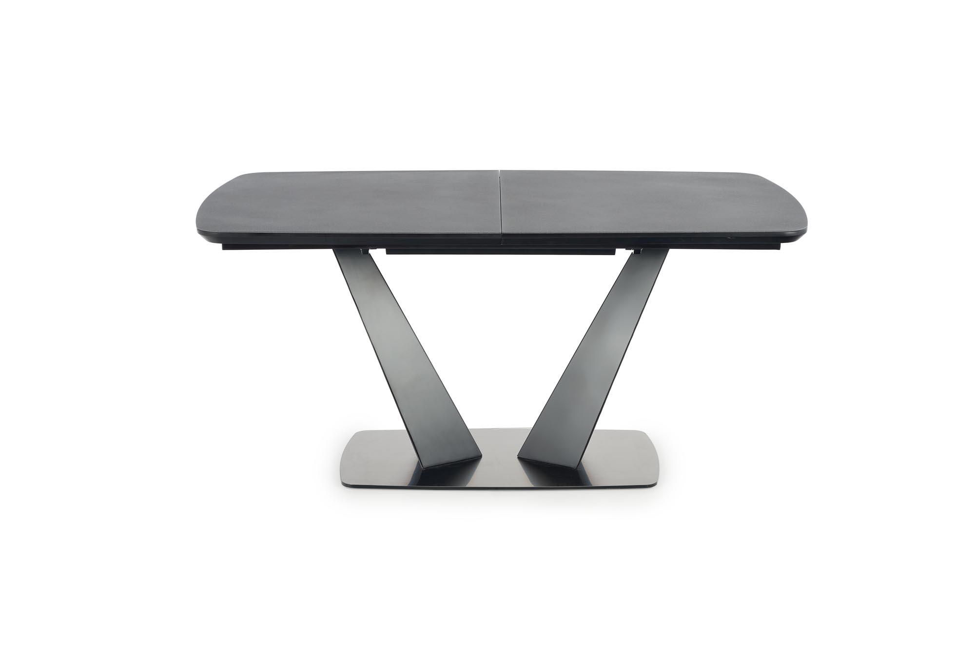FANGOR rozkladací stôl, doska - tmavo šedá, podstavec - čierny