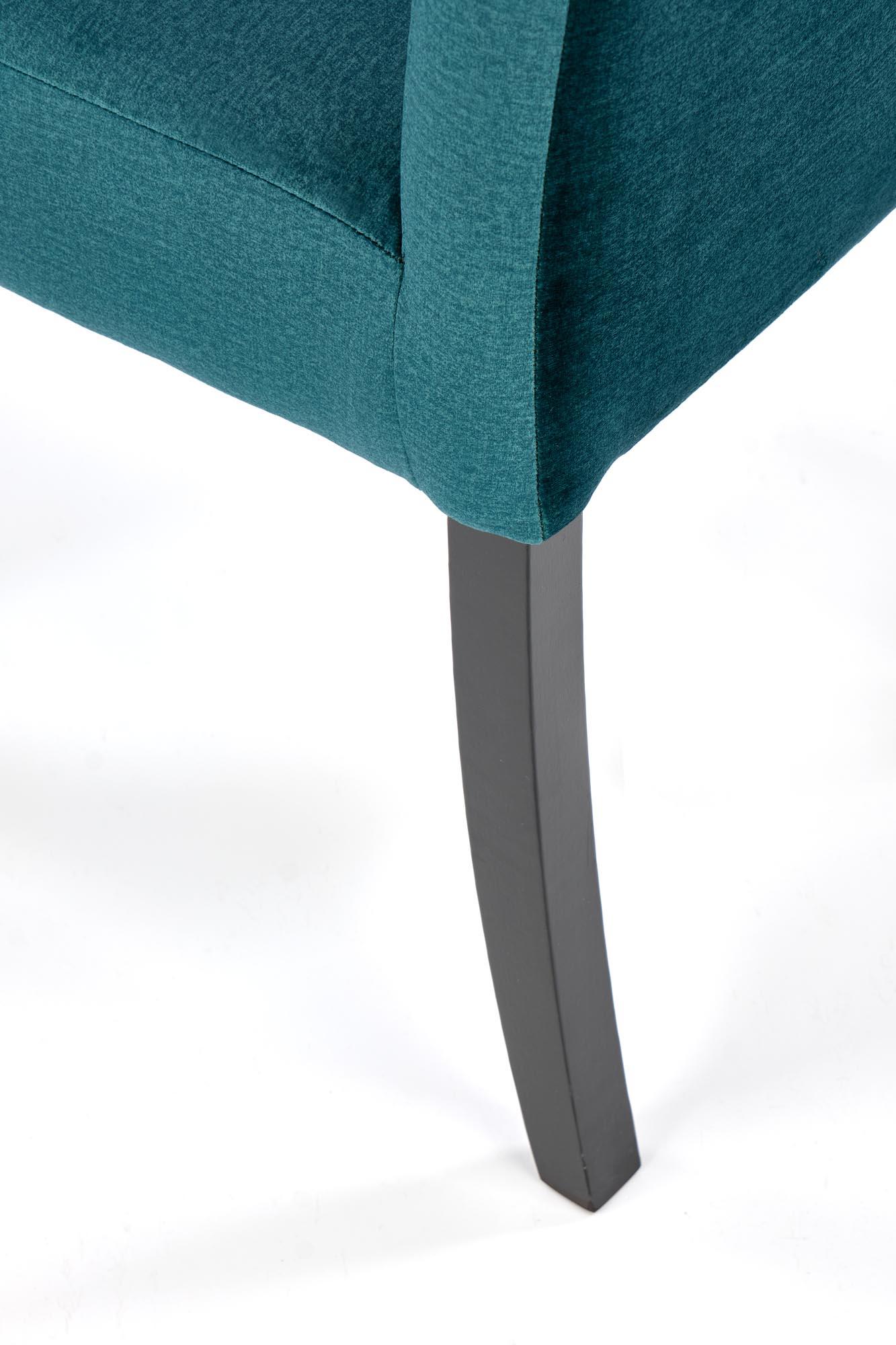 CLARION 2 stolička čierna / čal: MONOLITH 37 (tmavo zelená)