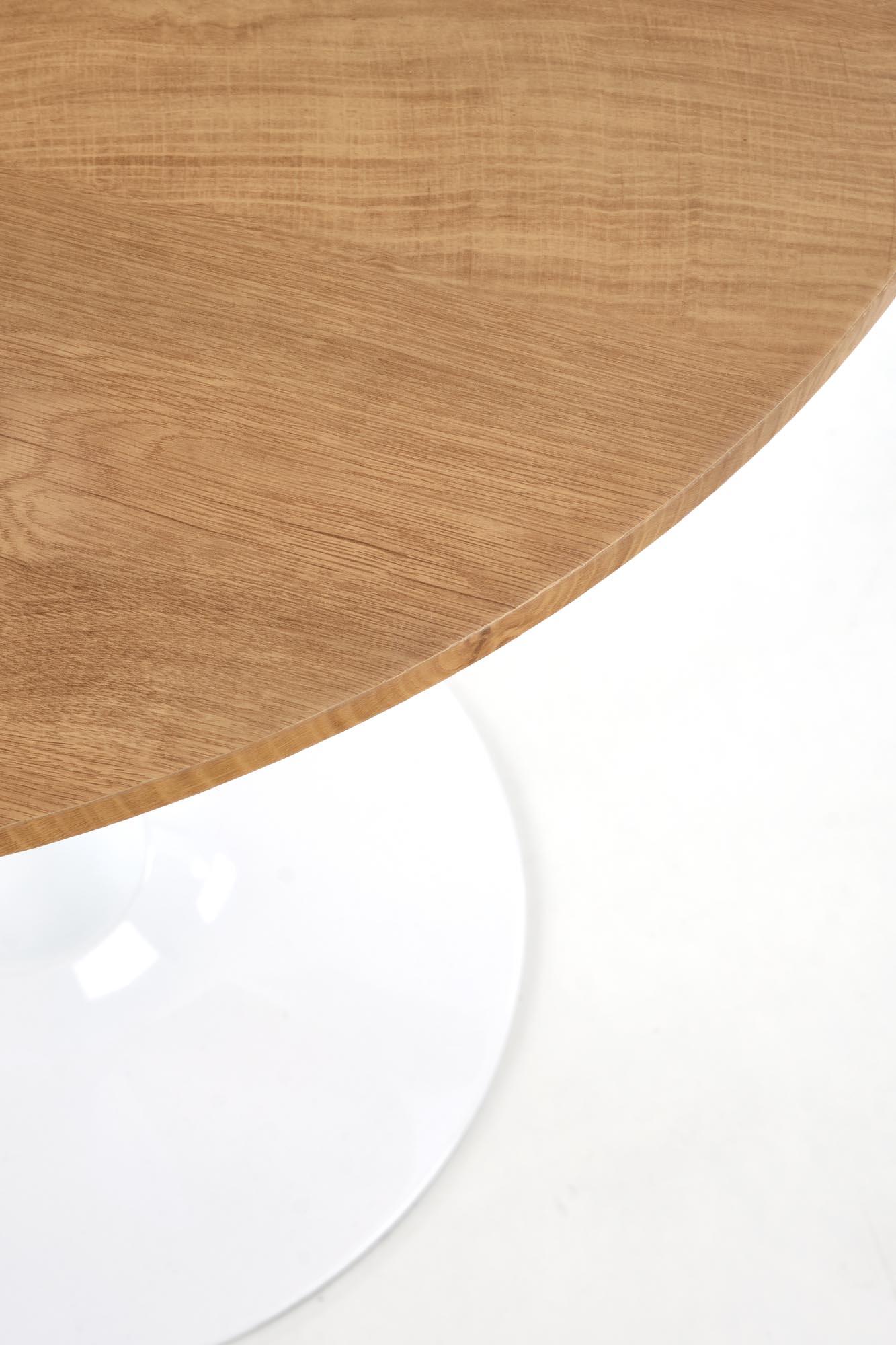 STING stôl doska - prírodná, nohy - biele