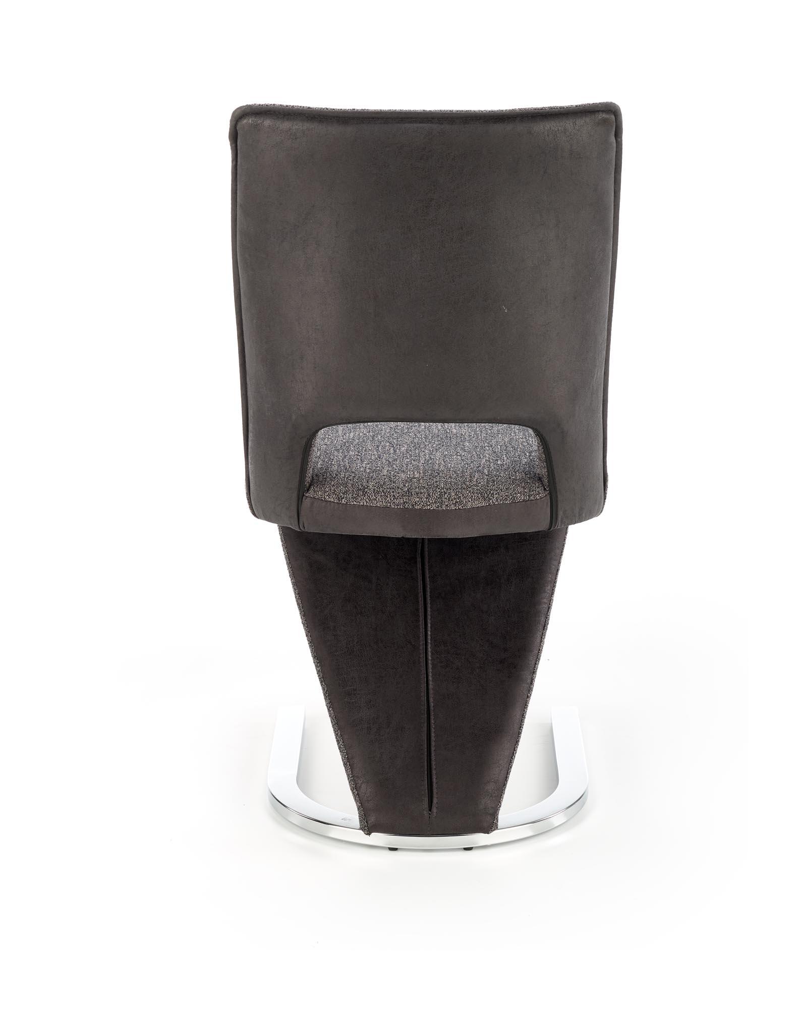 K441 stolička šedá/čierna