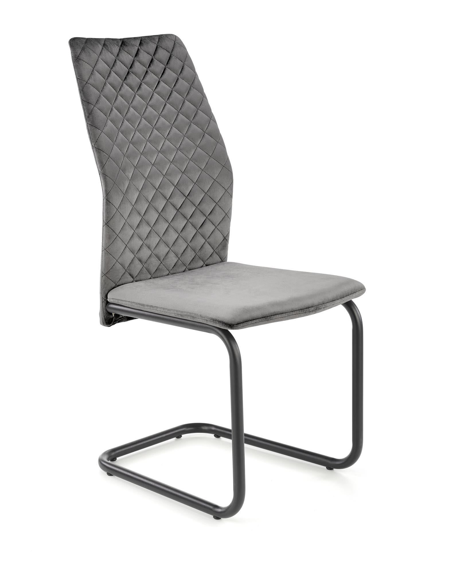 K444 stolička šedá