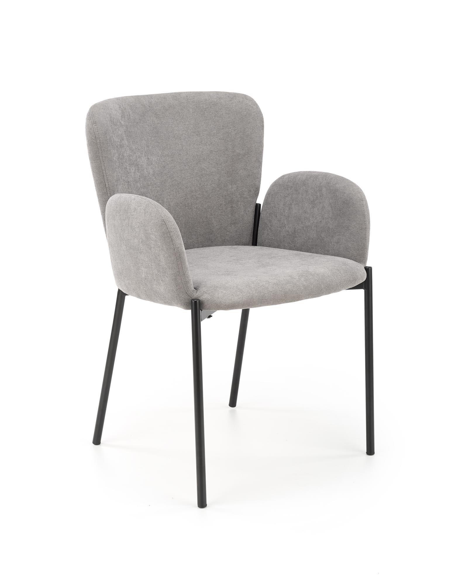 K445 stolička šedá