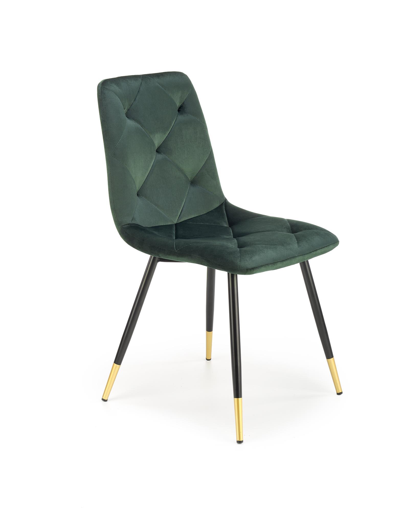 K438 stolička tmavo zelená