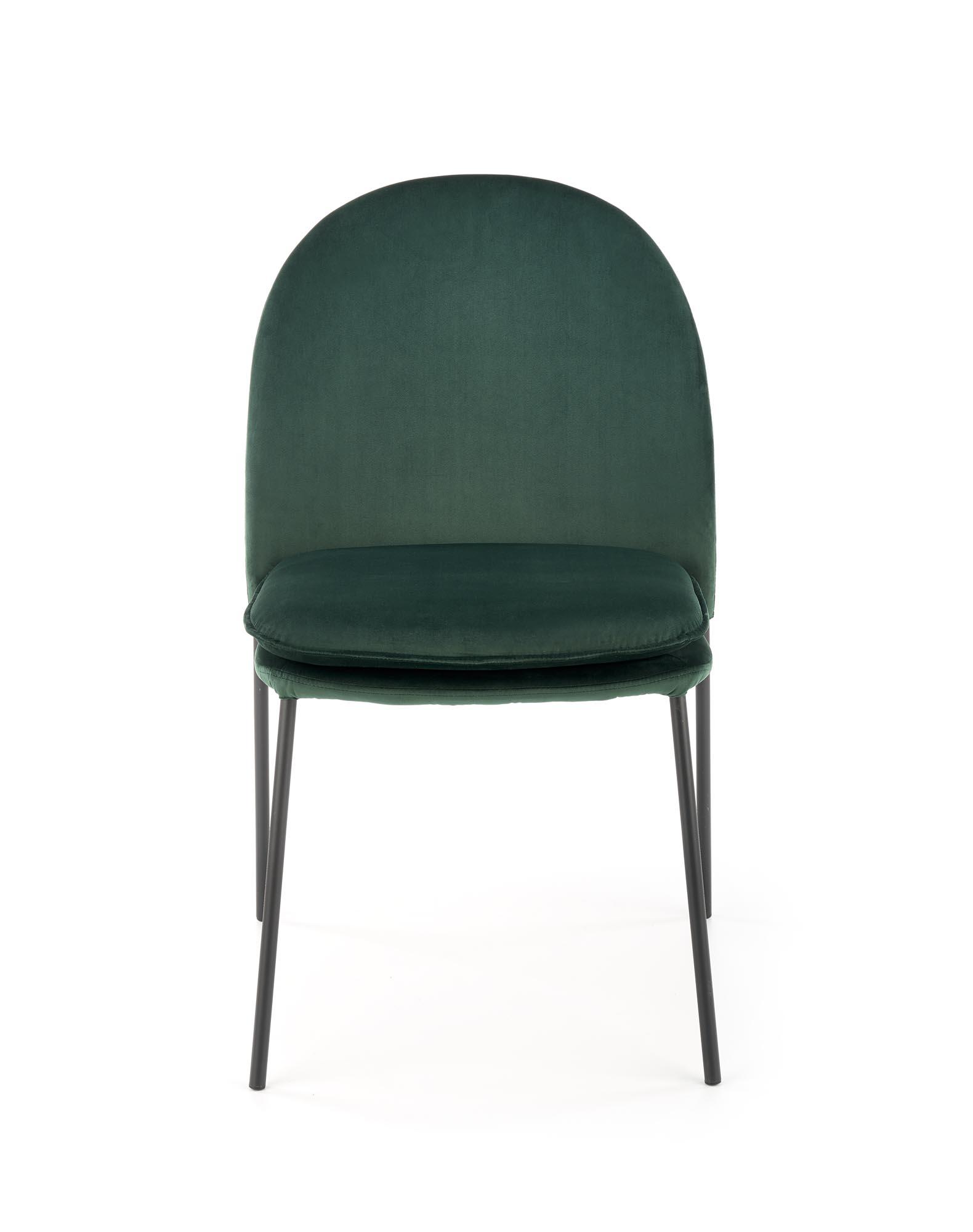 K443 stolička tmavo zelená
