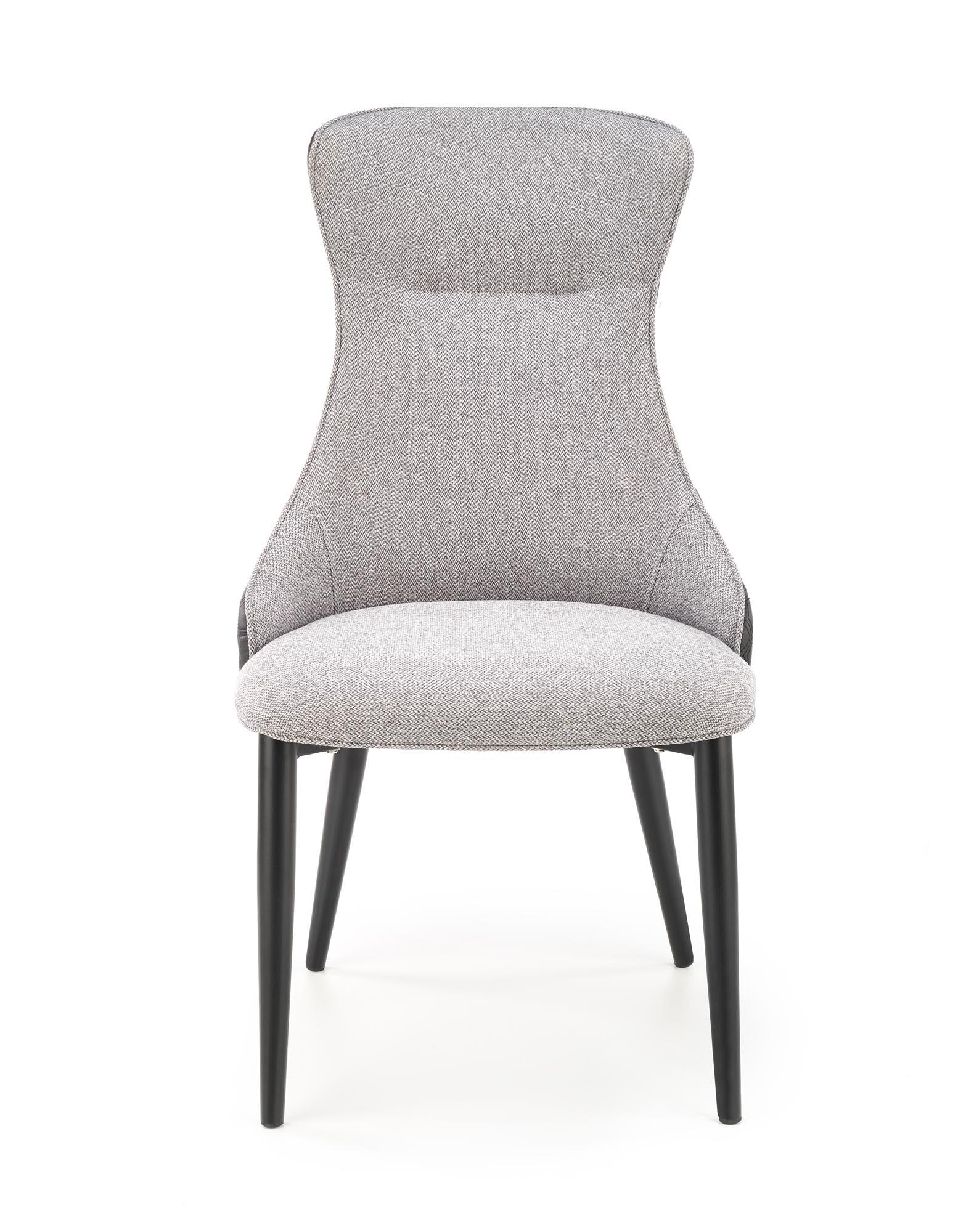 K434 stolička svetlo šedá/čierna