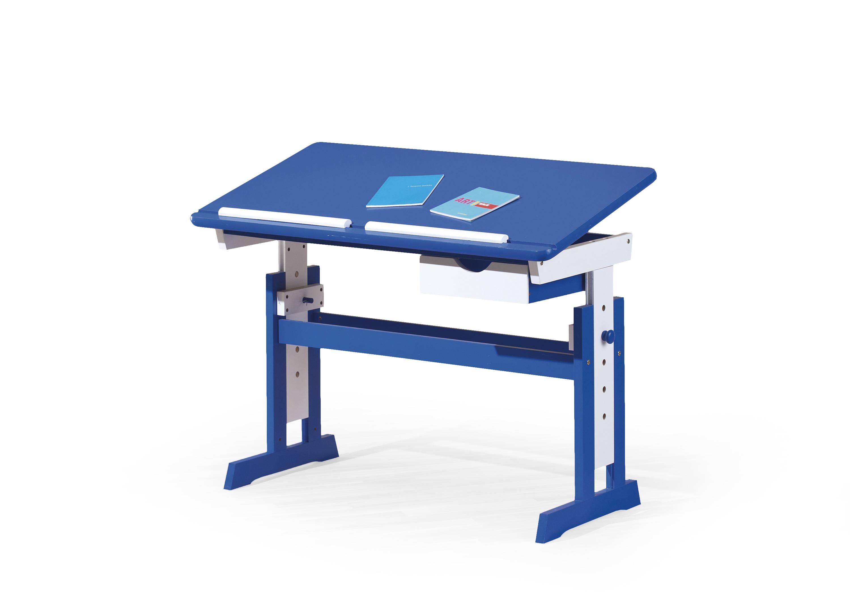 PACO PC stôl modro - biele