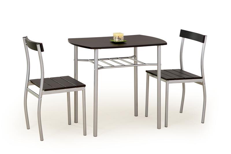 LANCE zostava stôl + 2 stoličky wenge