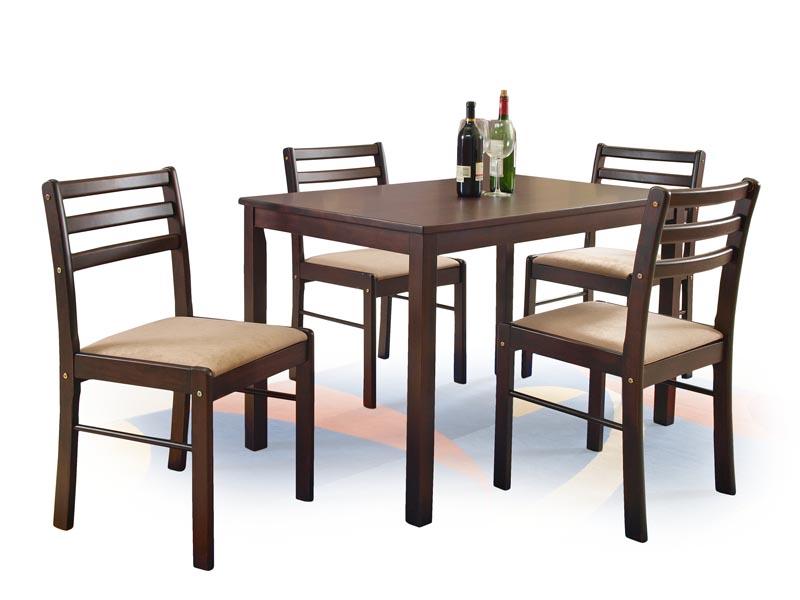 NEW STARTER zostava stôl + 4 stoličky espresso