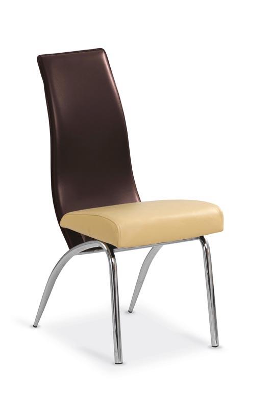 K2 stolička béžová-tmavo hnedá