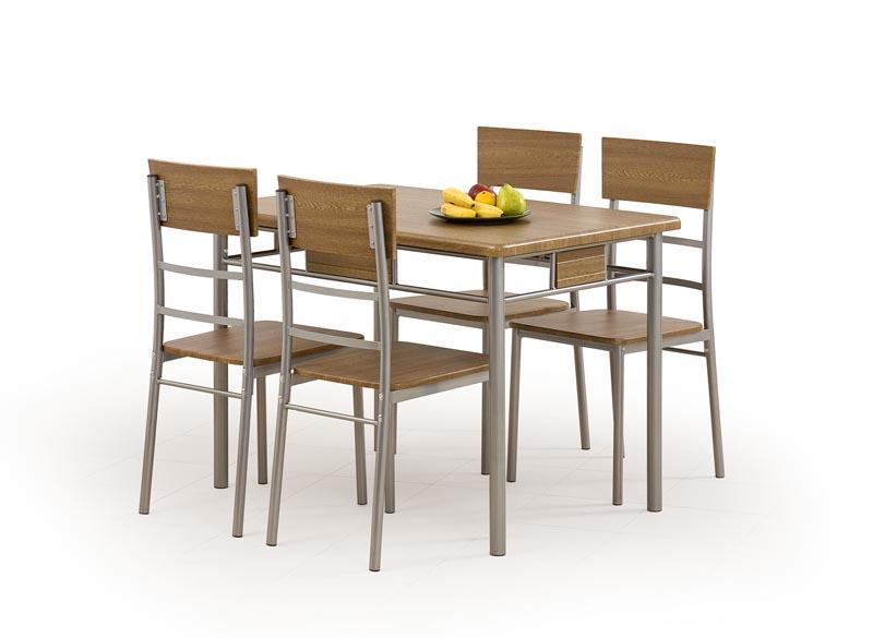 NATAN zostava stôl + 4 stoličky