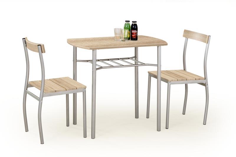 LANCE zostava stôl + 2 stoličky dub sonoma - NA SKLADE!