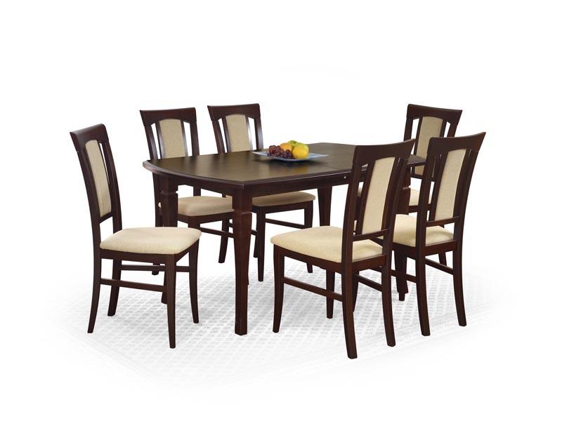 FRYDERYK 160/200 cm rozkladací stôl tmavý orech