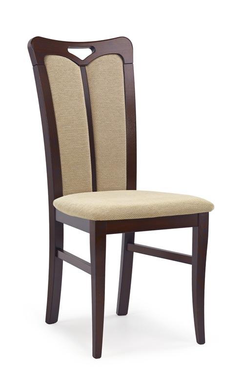 HUBERT2 stolička tmavo orech / tap: Torent Beige