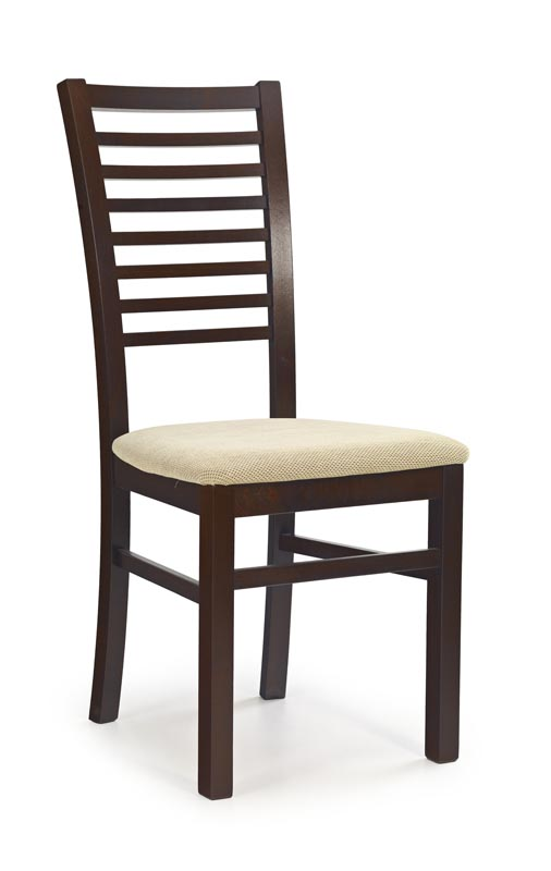 GERARD6 stolička tmavo orech / tap: Torent Beige