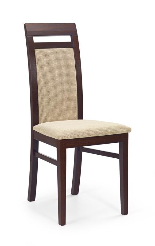 ALBERT stolička tmavo orech / tap: Torent Beige