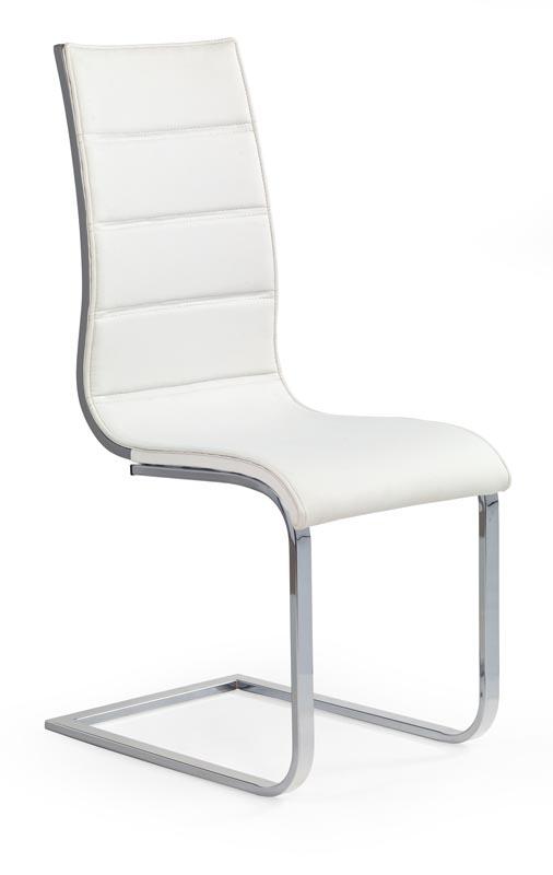 K104 stolička šedá/biela ekokoža - NA SKLADE!