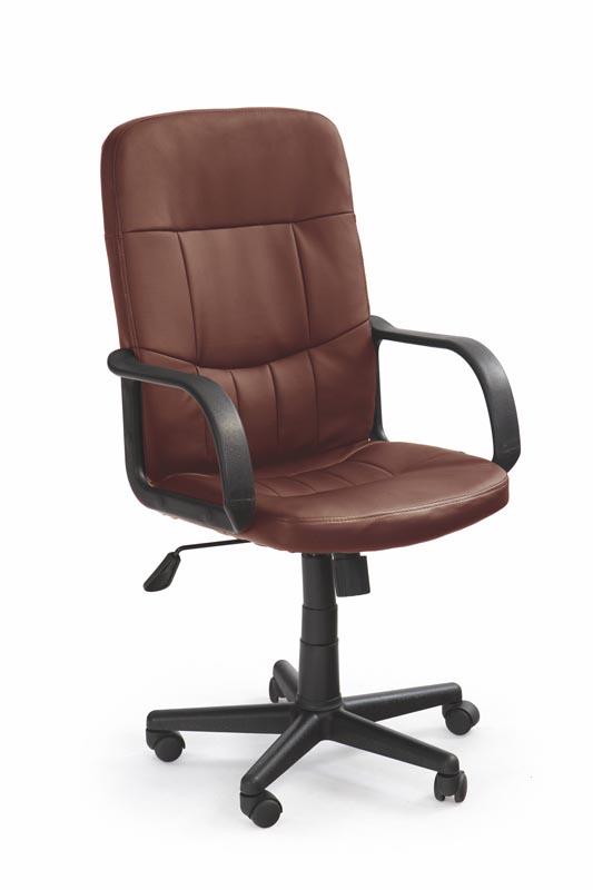 DENZEL kancelárska stolička tmavo hnedá