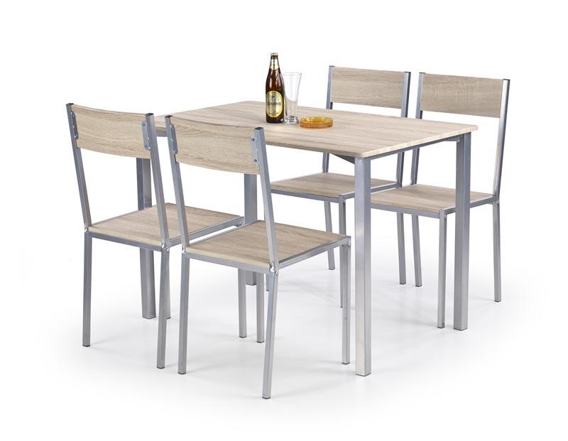 RALPH zostava stôl + 4 stoličky dub sonoma