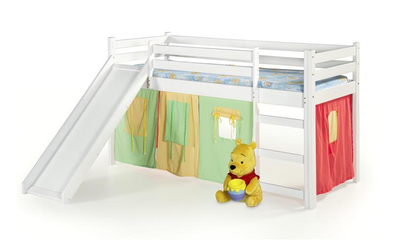 NEO PLUS - posteľ so šmýkačkou biela