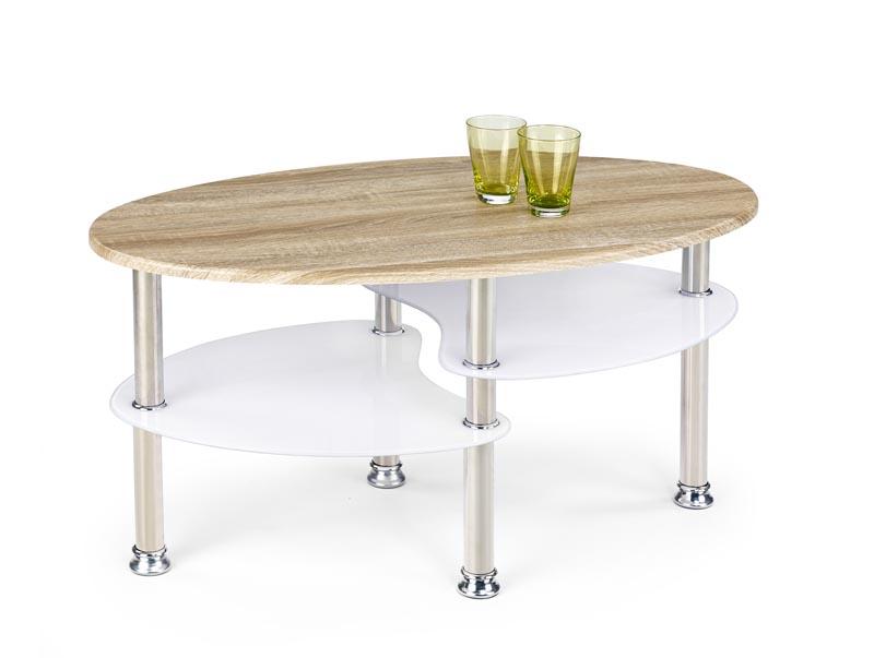MEDEA konferenčný stolík dub sonoma/extra biely