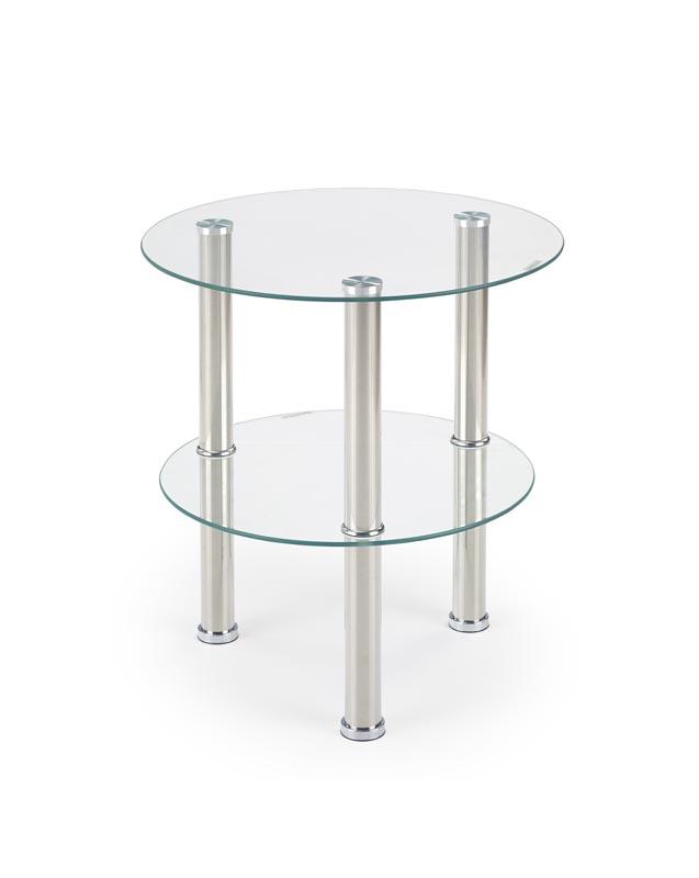 SARDINIA konferenčný stolík doska a polička bezfarebná