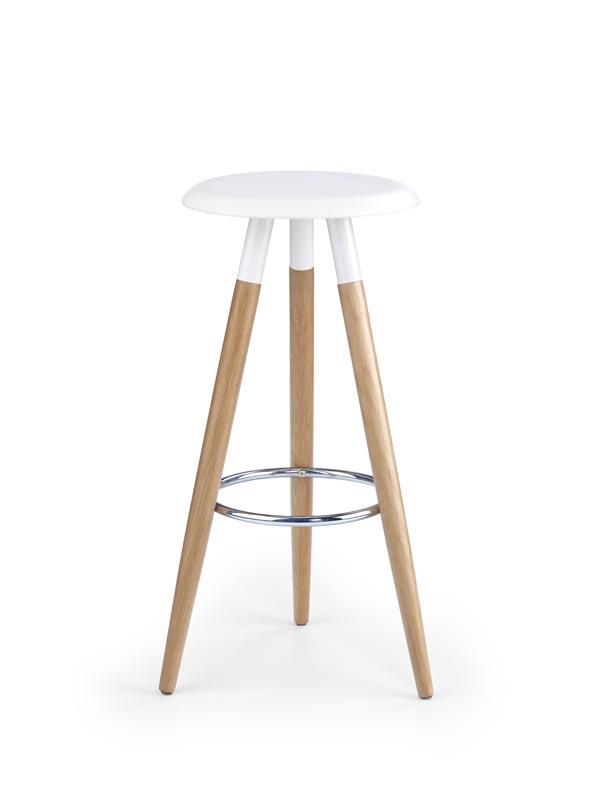 H50 barová stolička biela