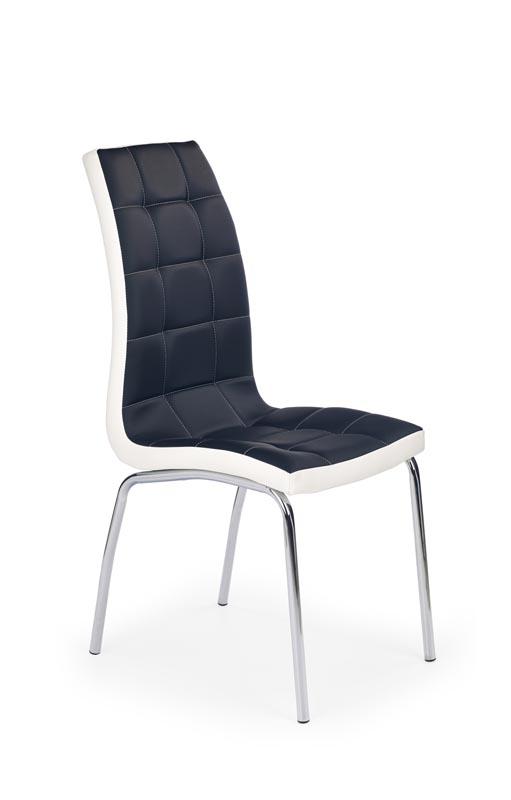 K186 jedálenská stolička čierna/biela