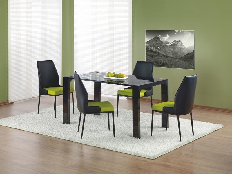 KEVIN stôl čierny lakovaný