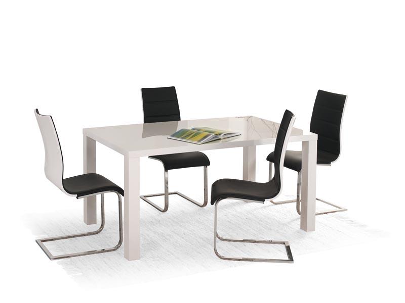 RONALD 120/160 stôl biela